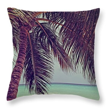 Tropical Ocean View Throw Pillow