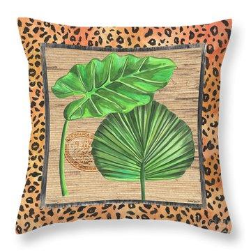 Tropical Palms 1 Throw Pillow