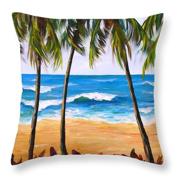 Tropical Palms 2 Throw Pillow