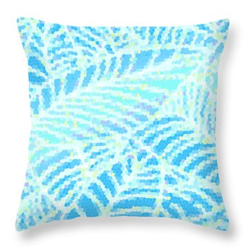 Tropical Pool Leaves Throw Pillow
