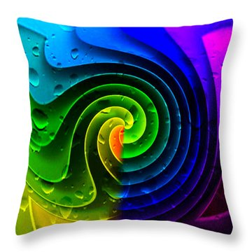 Throw Pillow featuring the photograph Tropical Rain by Kathy Kelly