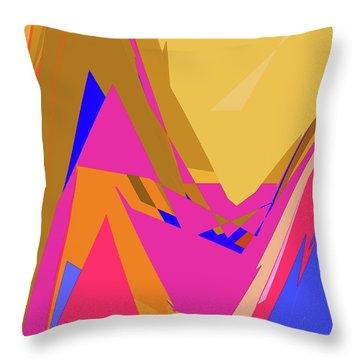 Tropical Ravine Throw Pillow