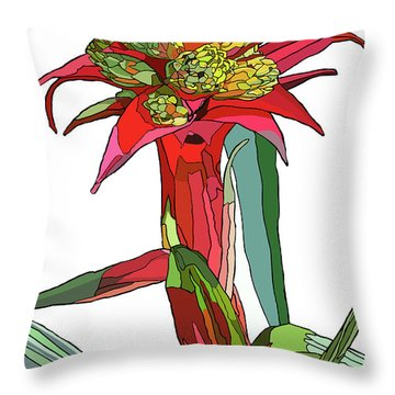 Tropical Reds Throw Pillow