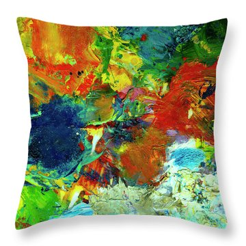 Tropical Reef #308 Throw Pillow by Donald k Hall