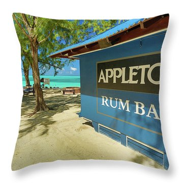 Tropical Rum Bar Throw Pillow
