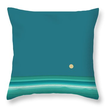 Tropical Sea Throw Pillow by Val Arie