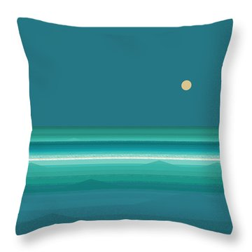 Throw Pillow featuring the digital art Tropical Seas by Val Arie