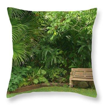 Tropical Seat Throw Pillow