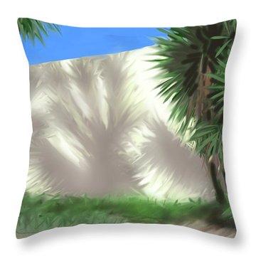 Tropical Shadows Throw Pillow