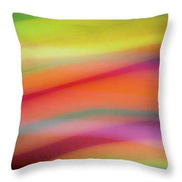 Tropical Sherbet Throw Pillow