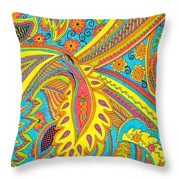 Tropical Sizzle Throw Pillow by Ramneek Narang