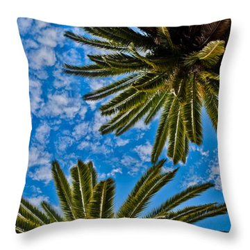 Tropical Skies Throw Pillow