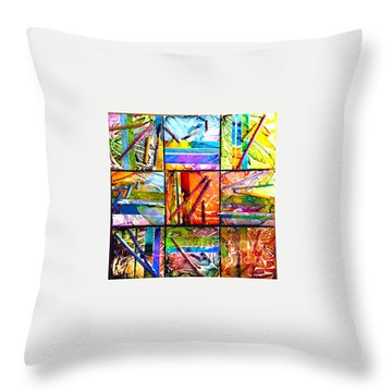 Tropical Stix Throw Pillow