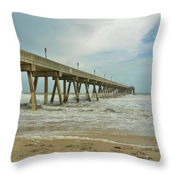 Tropical Storm Ana 1 Throw Pillow by Bob Sample