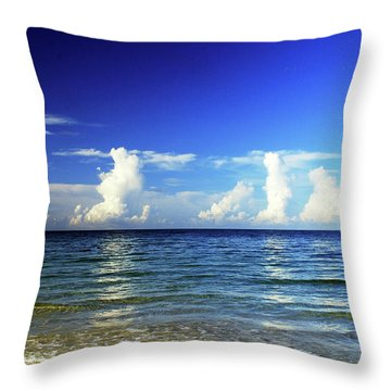 Throw Pillow featuring the photograph Tropical Storm Brewing by Gary Wonning