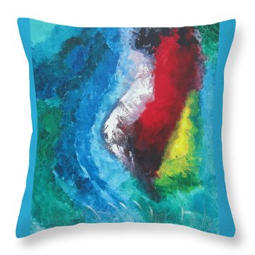 Tropical Storm Throw Pillow