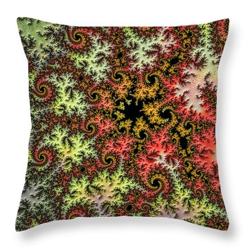 Tropical Storm Embroidered Throw Pillow
