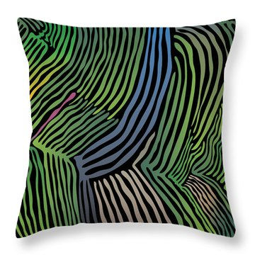 Tropical Striations Throw Pillow
