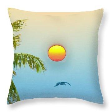 Tropical Sun Throw Pillow by Bill Cannon