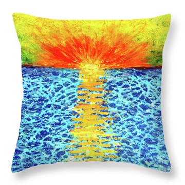 Tropical Sunrise Throw Pillow by Pattie Calfy