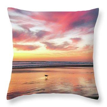Tropical Sunset Island Bliss Seascape C8 Throw Pillow