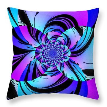 Throw Pillow featuring the digital art Tropical Transformation by Kathy Kelly