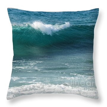 Tropical Treasure Coast Florida Seascape Wave 99 Throw Pillow