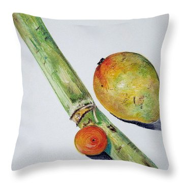 Tropical Trio Throw Pillow