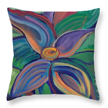 Throw Pillow featuring the painting Tropical Vision by John Keaton