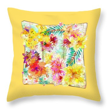 Throw Pillow featuring the digital art Tropicana Abstract By Kaye Menner by Kaye Menner