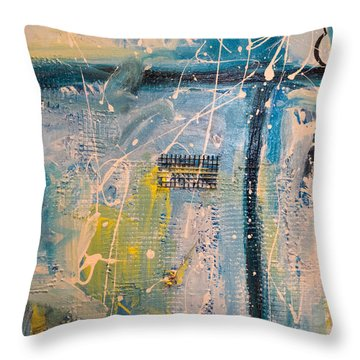 Tropicana Bird 01 Throw Pillow by Gallery Messina