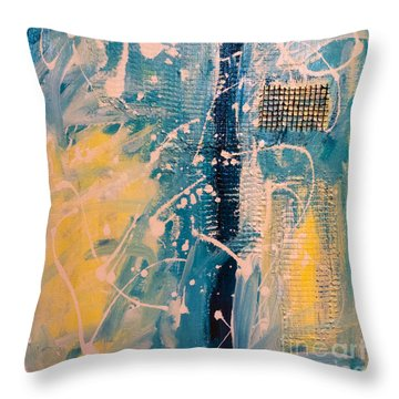 Tropicana Bird 03 Throw Pillow by Gallery Messina