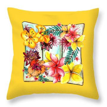 Throw Pillow featuring the photograph Tropicana By Kaye Menner by Kaye Menner