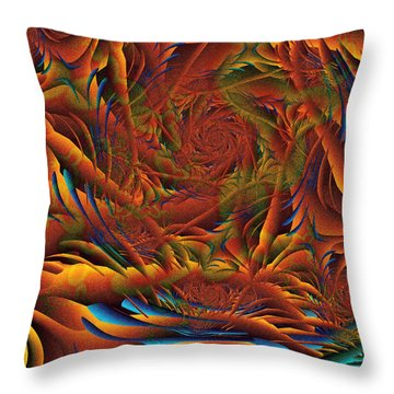 Throw Pillow featuring the digital art Tropicana Fantasy by Richard Ortolano