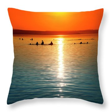 Tropicana Swimming Throw Pillow