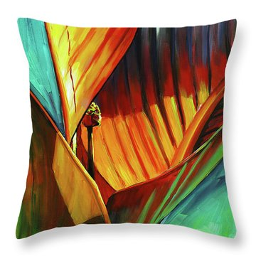 Tropicanna Canna Throw Pillow