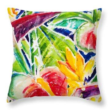 Tropics - Floral Throw Pillow by Julie Kerns Schaper - Printscapes