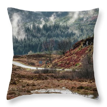 Throw Pillow featuring the photograph Trossachs National Park In Scotland by Jeremy Lavender Photography