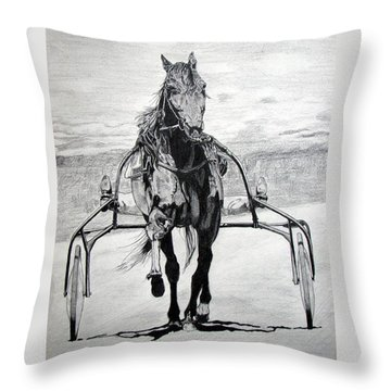 Trotter Throw Pillow by Melita Safran