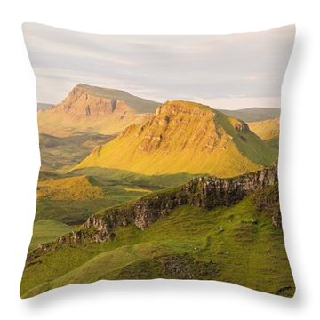 Trotternish Summer Panorama Throw Pillow