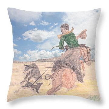 Trouble In Bunches Classic Throw Pillow