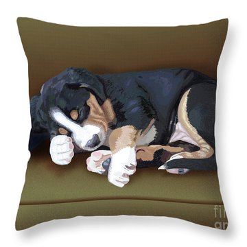 Trouble Throw Pillow by Jacqueline Barden
