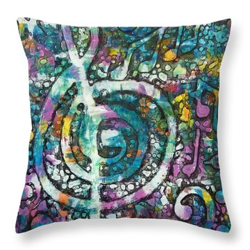 Trouble With Trebles Throw Pillow