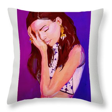 Troubled Throw Pillow