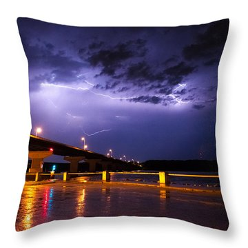 Troubled Skies Throw Pillow