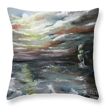 Troubled Waters Complete Throw Pillow