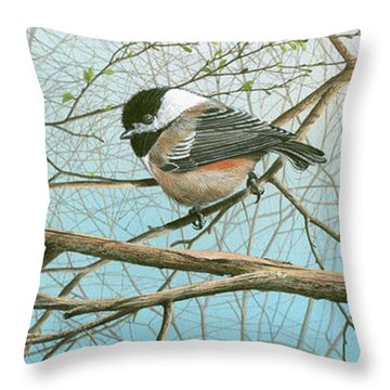 Troublesome Trio Throw Pillow