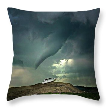 Troubling Times Throw Pillow
