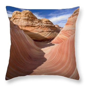 Trough Of The Wave Throw Pillow by Mike  Dawson
