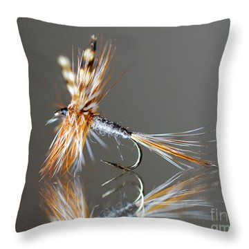 Trout Fly 2 Throw Pillow